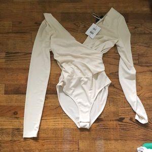 NWT topshop wrap bodysuit
